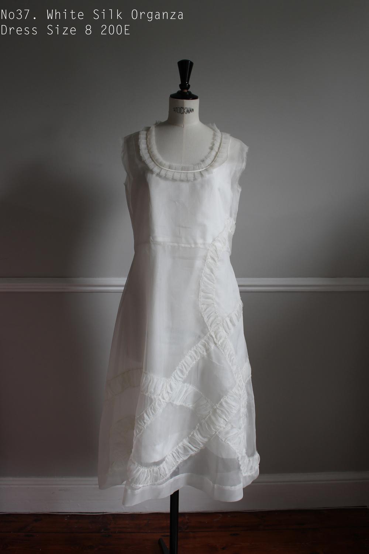 No37. White Silk Organza Dress Size 8 200E.jpg