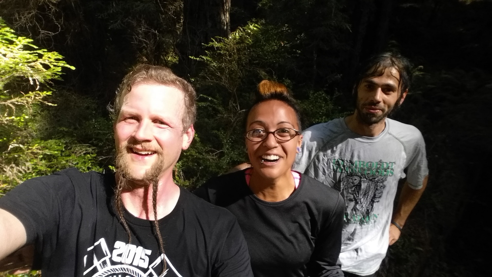 Jason, Panda, and Justin training for the spring 15 half marathon.  We are at the top of Headwaters up on a fallen log.