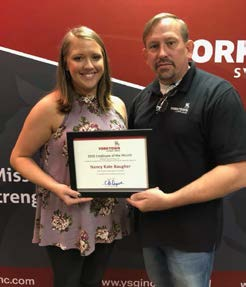 Yorktown August 2018 Co-Employee of the Month, Nancy Kate Baugher