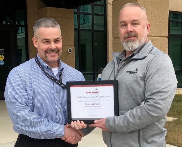 Yorktown TEAMS Employee of the 4th Quarter in 2018, Dean Lockhart