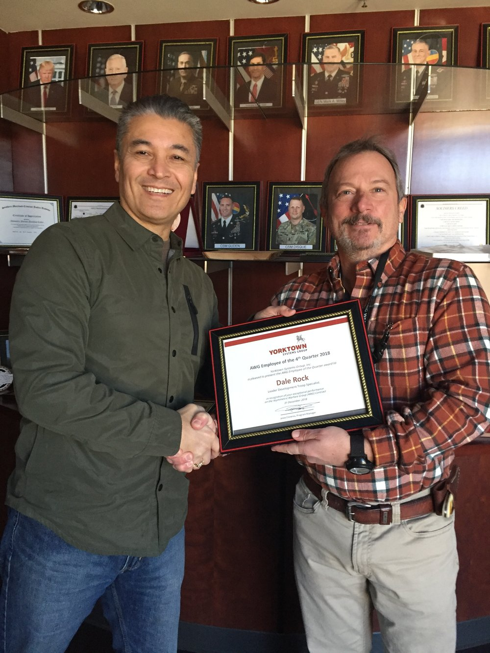 Yorktown AWG Employee of the 4th Quarter of 2018, Dale Rock