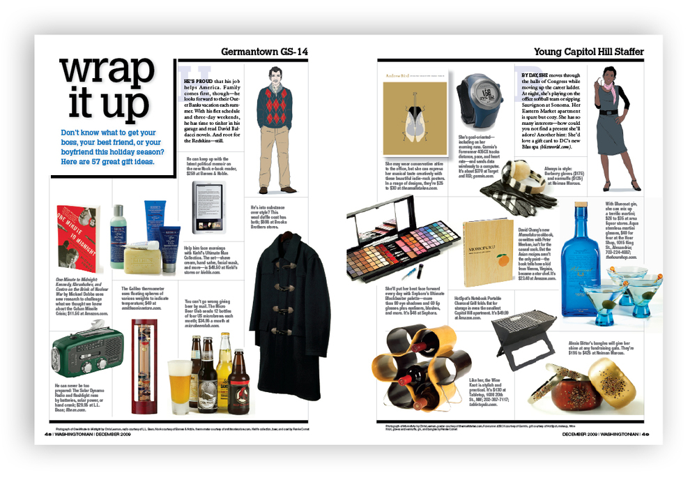 Styling, art direction and layout design for gift guide.