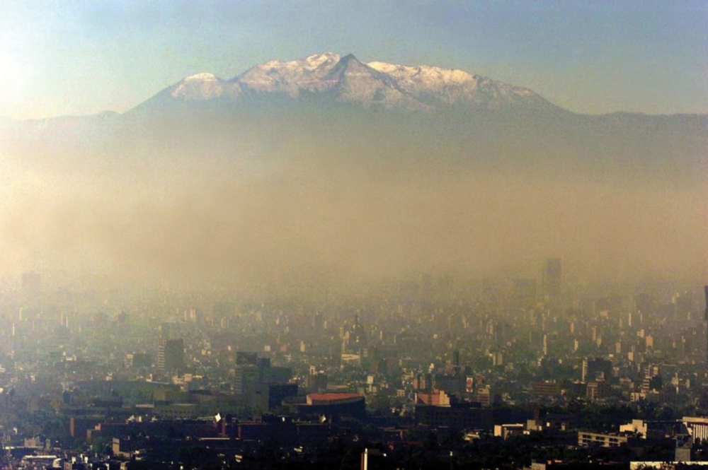 "Figure 6. Smog in Mexico City  Mihai Andrei, ""Pollution Damages Short Term Memory, IQ and Brain Metabolism,"" ZME Science, February 12, 2015"