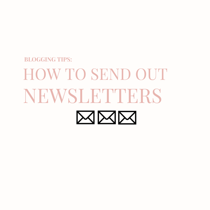 LEARN HOW TO SEND OUT YOUR BLOG'S FIRST NEWSLETTER
