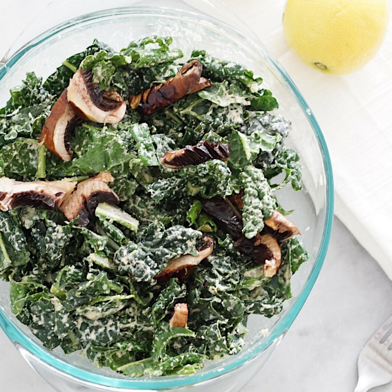 HOMEMADE KALE CAESAR SALAD