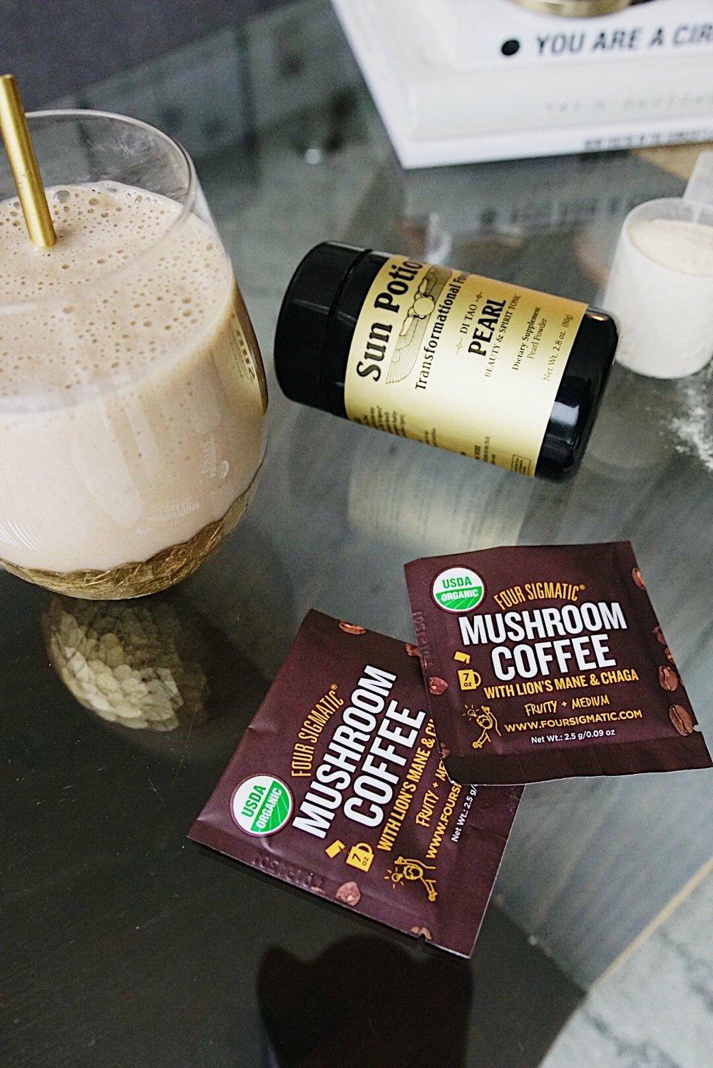 protein chaga latte
