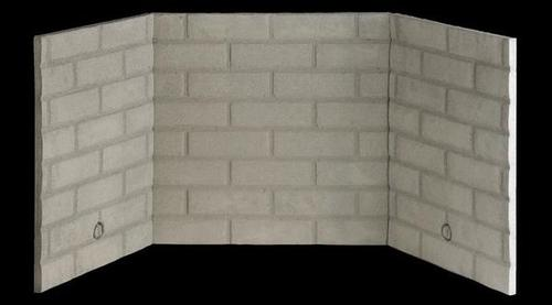 fireplace firebrick panels. Most pre fabricated fireplaces will have 4 refractory panels that make up a  firebox Each panel is molded approximately to 1 inch thick and are designed Prefabricated Fireplaces Fidelity Chimney Hearth