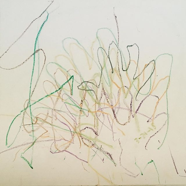 Even Picasso had to start somewhere  #toddlerart #parenting101 #toddler #momlife #dadlife #art #scribble #scribbling #trace #hands