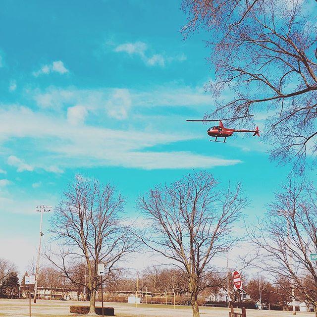 Take off  #helicopter #evanston #evanstonparksandrec @parkrecevanston #marshmallowdrop #coemallowdrop