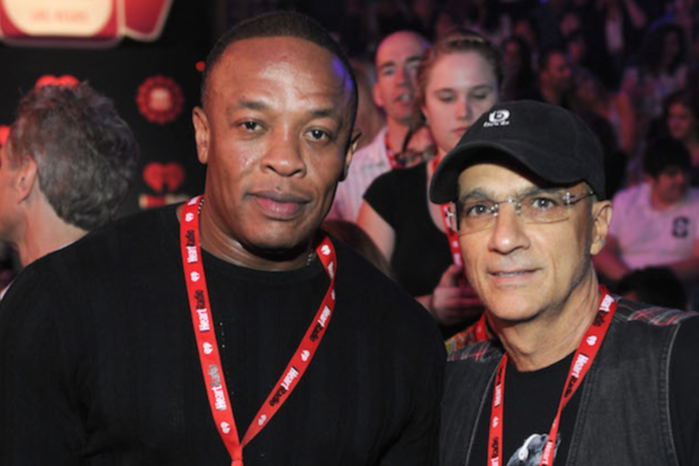 Dr. Dre and Interscope Cofounder Jimmy Iovine, photo courtesy of Michael Kovac, Getty Images.