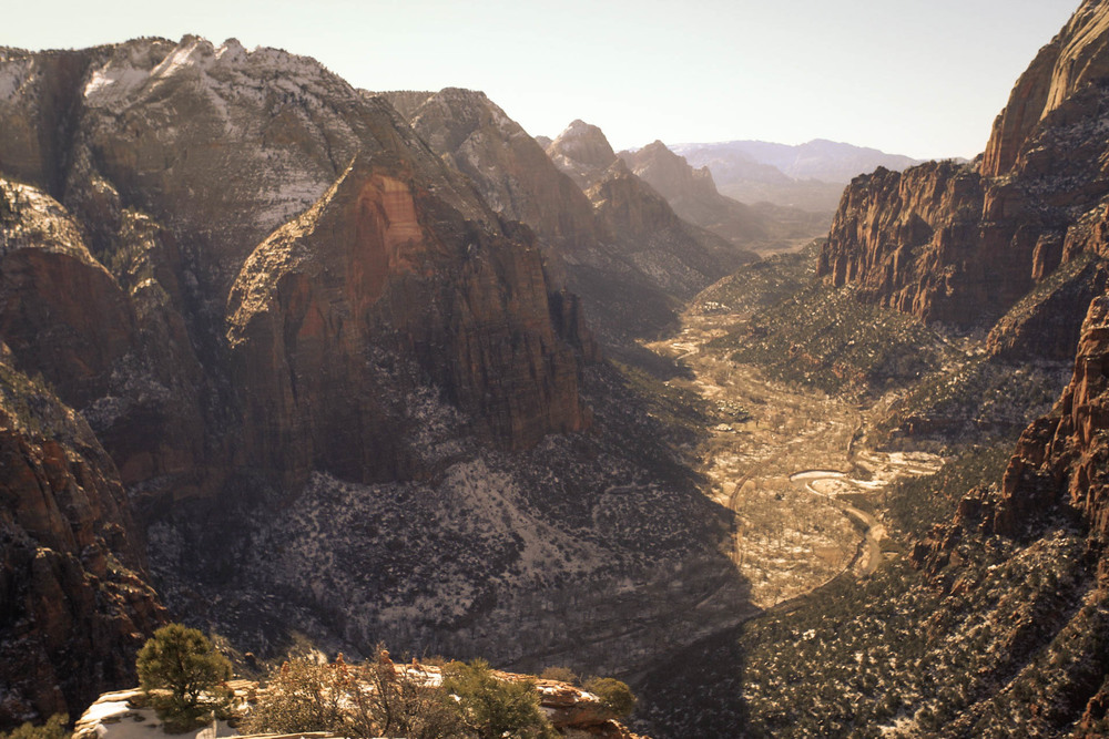 view from one side of Angel's Landing