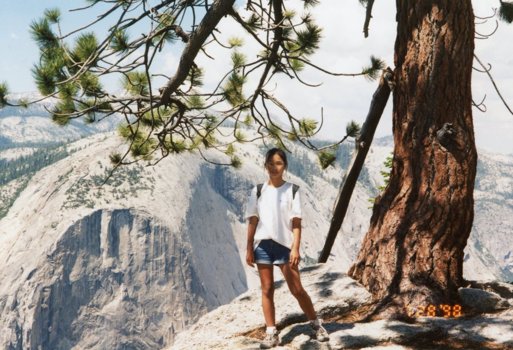 Hiking with my dad in Yosemite, 1998
