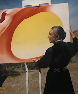 Georgia O'Keeffe and Red with Yellow Pelvis