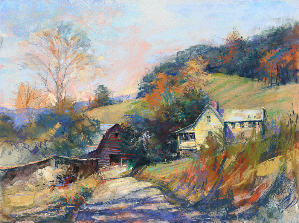 Peace In The Valley,An Original Pastel By Bill Suttles. In the collection of John and Carol Harrison