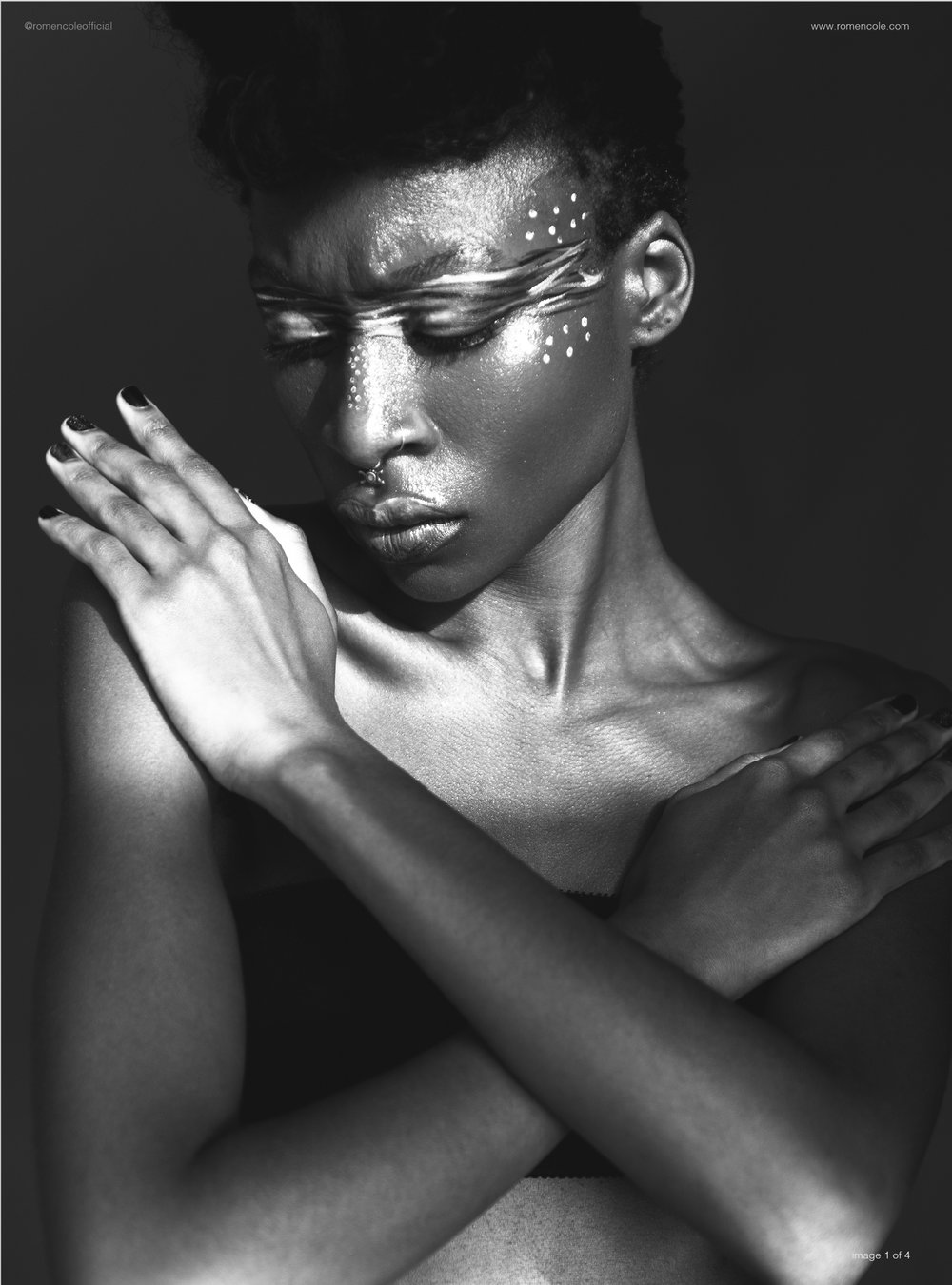 """testing testing""; the embrace - model: zuri deva"