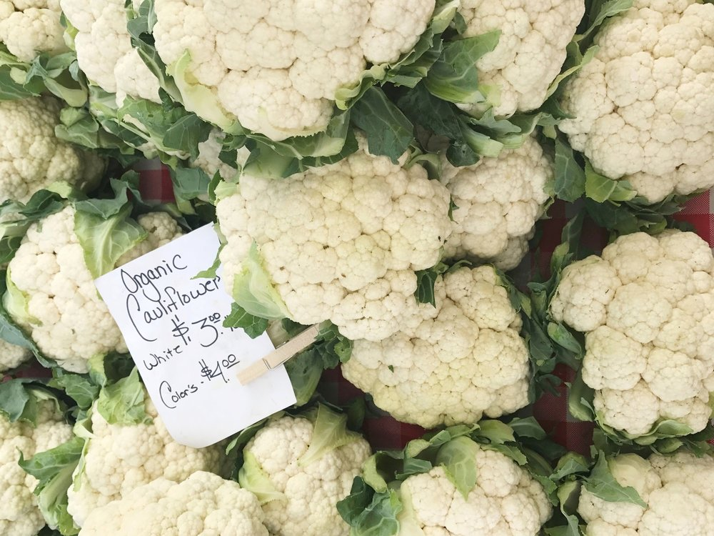 Cauliflower from the farmers' market