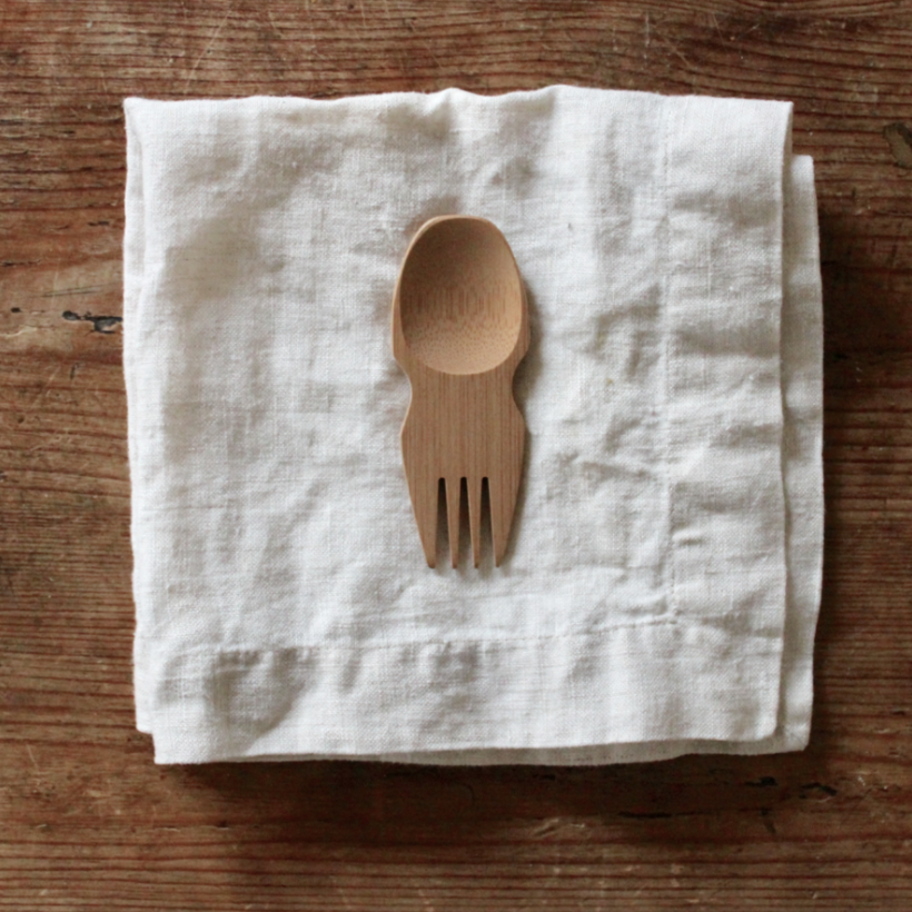 Reusable Bambu travel spork and utensil | Litterless