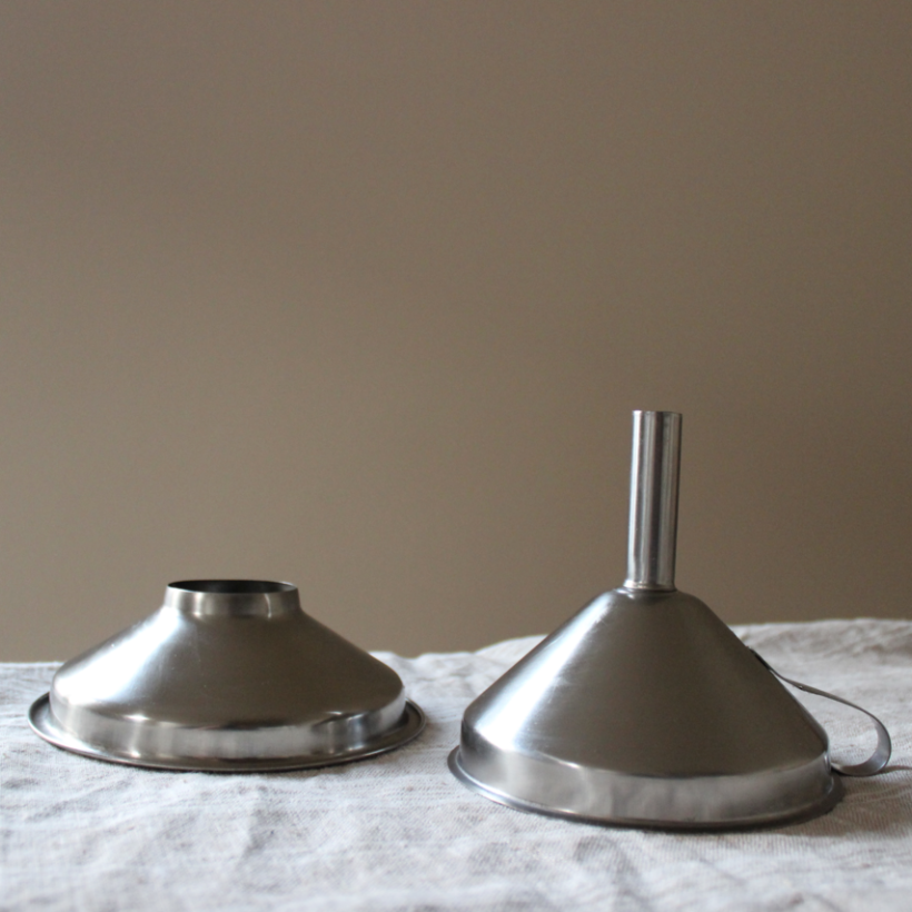 Stainless steel funnels for decanting bulk foods | Litterless