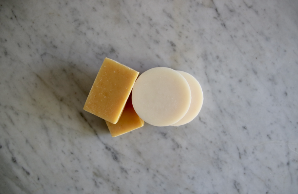 Simple zero waste swap: bar soap instead of pump soap in a plastic bottle | Litterless