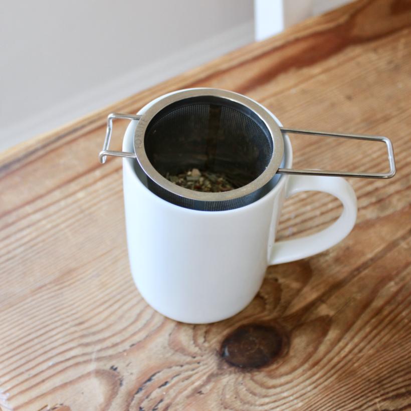 Stainless steel loose-leaf tea strainer and infuser | Litterless