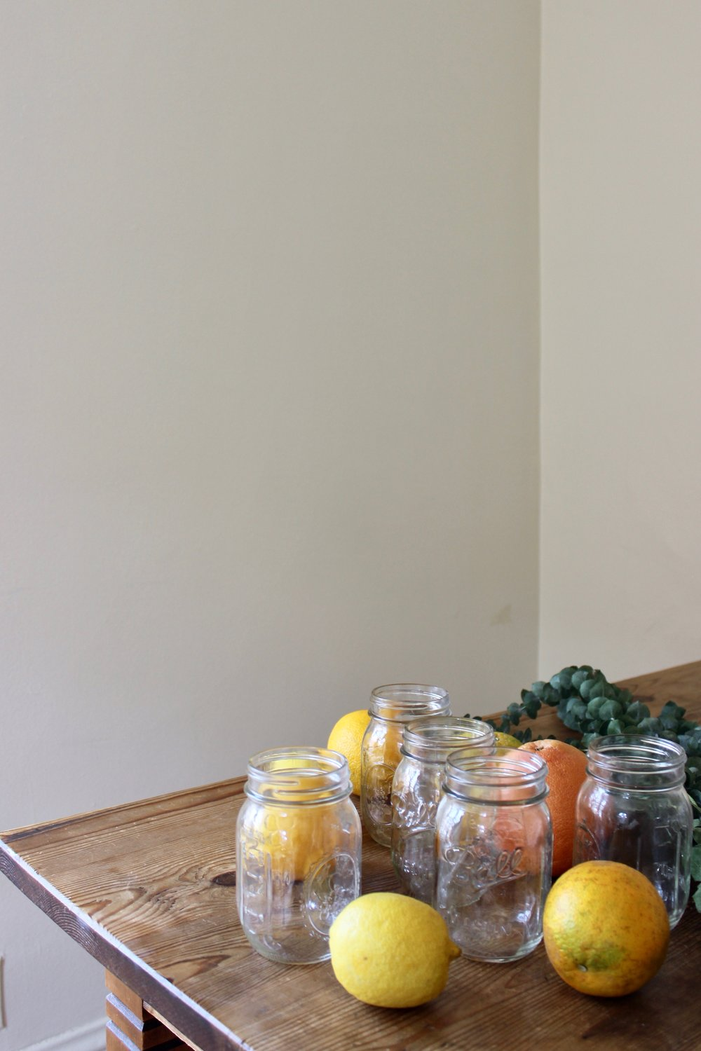 DIY zero waste cleaning vinegar scented with lemon, grapefruit, orange, eucalyptus, or pine | Litterless