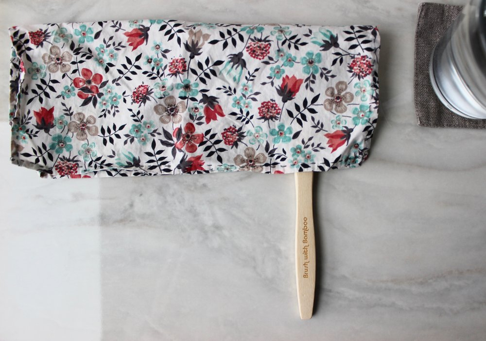 Zero-waste, plastic-free travel toothbrush cover using just a handkerchief | Litterless