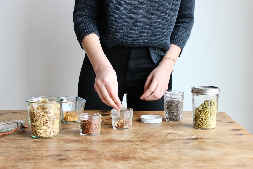 Make your own zero waste loose leaf tea blends | Simple zero food waste tip for using herbs and citrus peels | Litterless