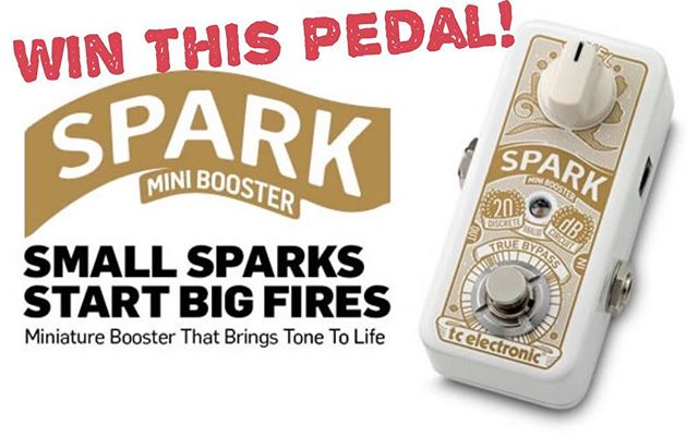 Congratulations @duckdrawsthings You are the winner of a brand new @tcelectronic spark boost pedal! #winner #wrightgear #tcelectronic #spark #guitar #pedal