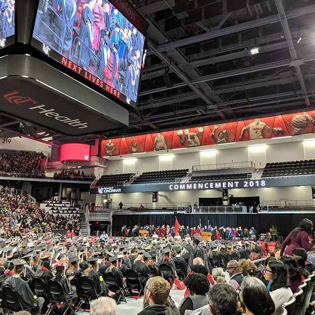 She did that! We're so proud of you @skylarchristinaa #universityofcincinnati #commencement