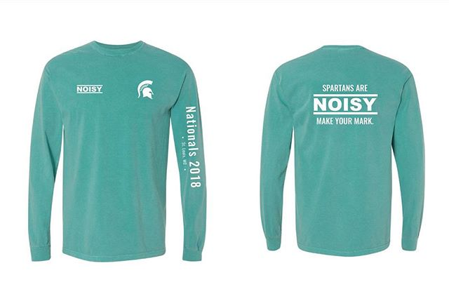 This year, we are working with a new brand called NOISY for our Nationals shirts. We will be debuting their brand with our national shirts in St. Louis, MO in April. Their mission and purpose are provided. With their help, we will be supporting the survivors of the Larry Nassar case with these teal colored shirts. If interested, orders are due by THIS Wednesday (3/21). ORDER TODAY, link in bio! Shipping options available!