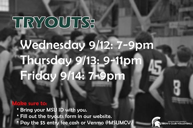 TRYOUTS START TONIGHT!! Join us @ IM West. Link for tryouts form in bio