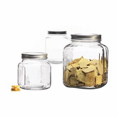 GLASS CRACKER JARS