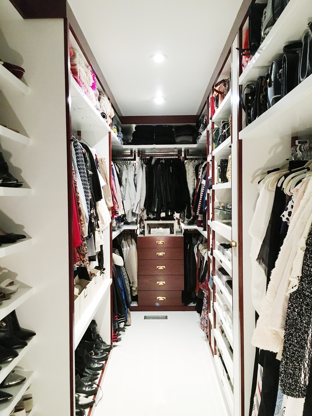 The completed closet.