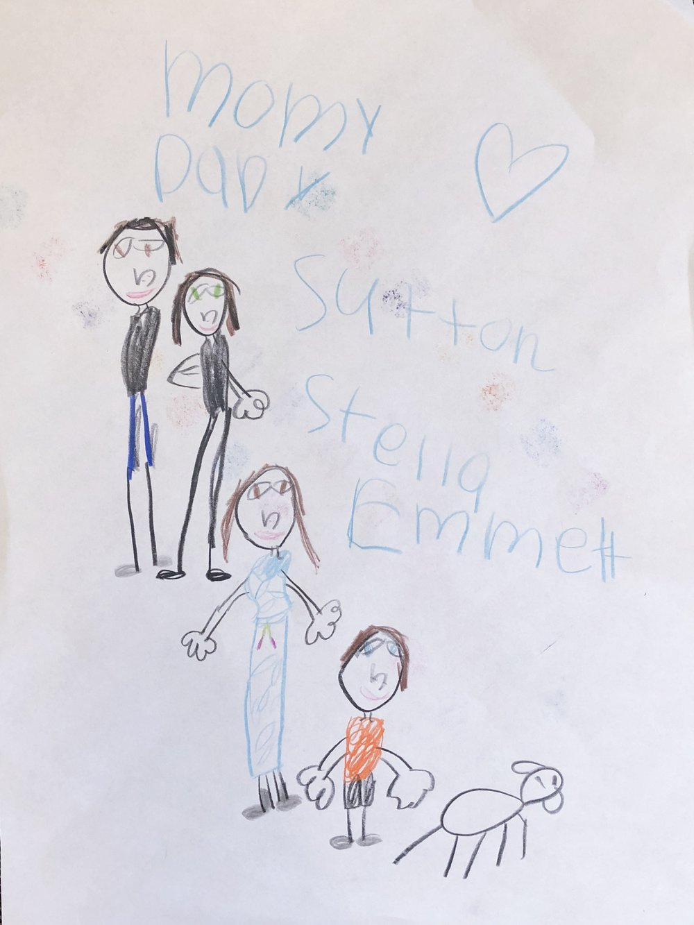 for instance iu0027ll keep this because itu0027s portrait of our family with the additional bonus of stella making me look tall and skinny with a good outfit