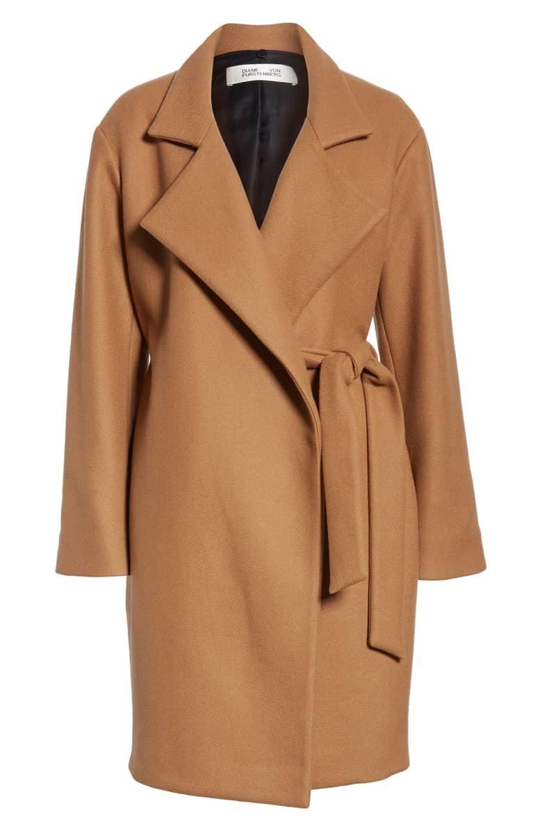 DVF Wool Wrap Coat