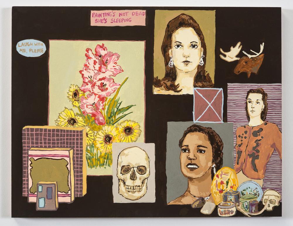Kirstin Lamb Not Dead She's Sleeping 2015 Gouache on Paper on Panel 11 x 14in.jpg