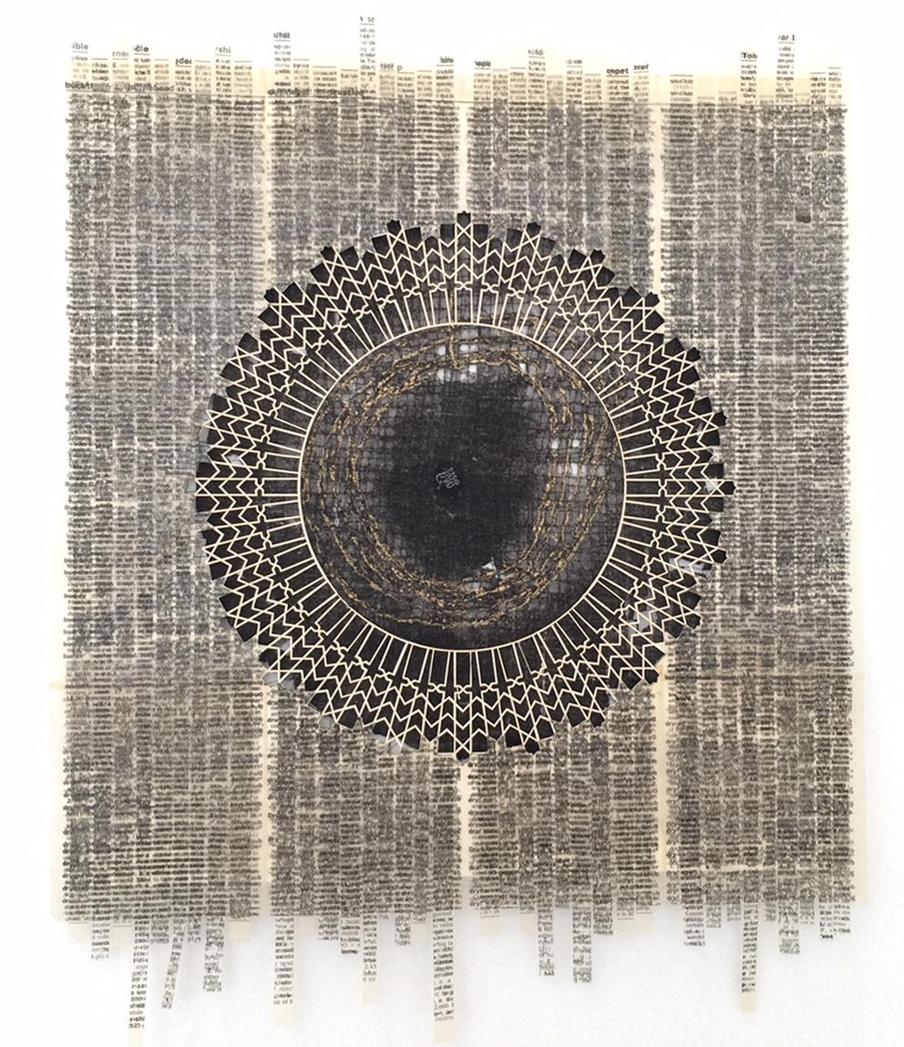Camille Hawbaker + Julia Ibbini,  Untitled,  mixed media, 14 x 12 inches