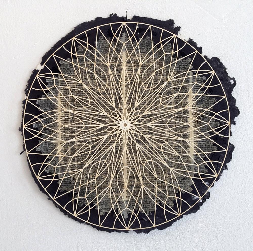 Camille Hawbaker + Julia Ibbini,  Untitled,  2017, mixed media, 10 inch diameter