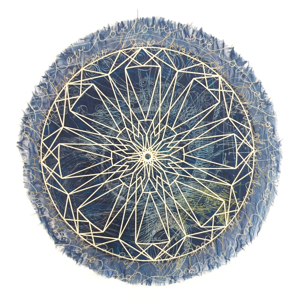 Camille Hawbaker + Julia Ibbini,  Untitled,  2017, mixed media, 11.5 inch diameter