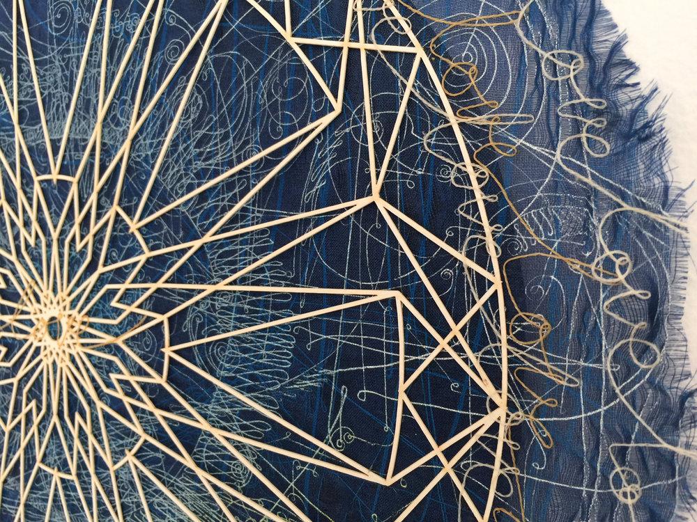 Camille Hawbaker + Julia Ibbini,  Untitled  (detail) ,  2017, mixed media, 11.5 inch diameter
