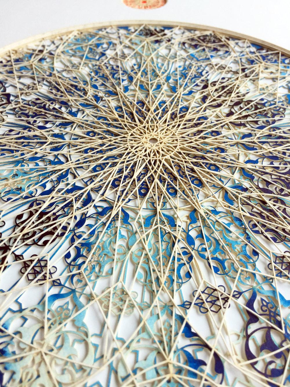 Julia Ibbini,  Araq Fades (Circle Studies) (detail) , 2017, 19 x 15 x 1.5 inches framed, photo courtesy of the artist