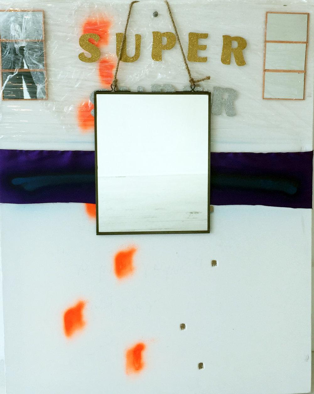 Craig Roper,  Super Super , 2017, mixed media, 28 x 22 inches, photo credit: Jared Kennedy