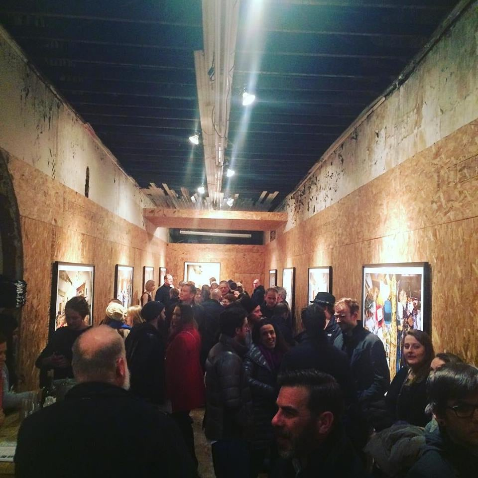 Opening night of Geoff Johnson's  Behind the Door  at Project Project