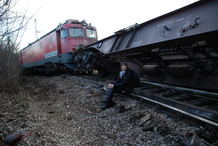 Aleksandrija Ajdukovic, from the series 'Crime Scene', 2013. Photo courtesy of curator, Katarina Radovic.