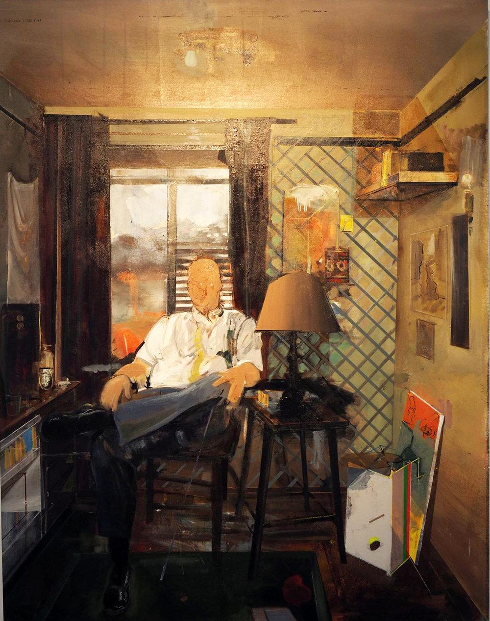 Robert Weiss,  Portrait of Ryan , acrylic on linen, 18 1/2 x 24 inches