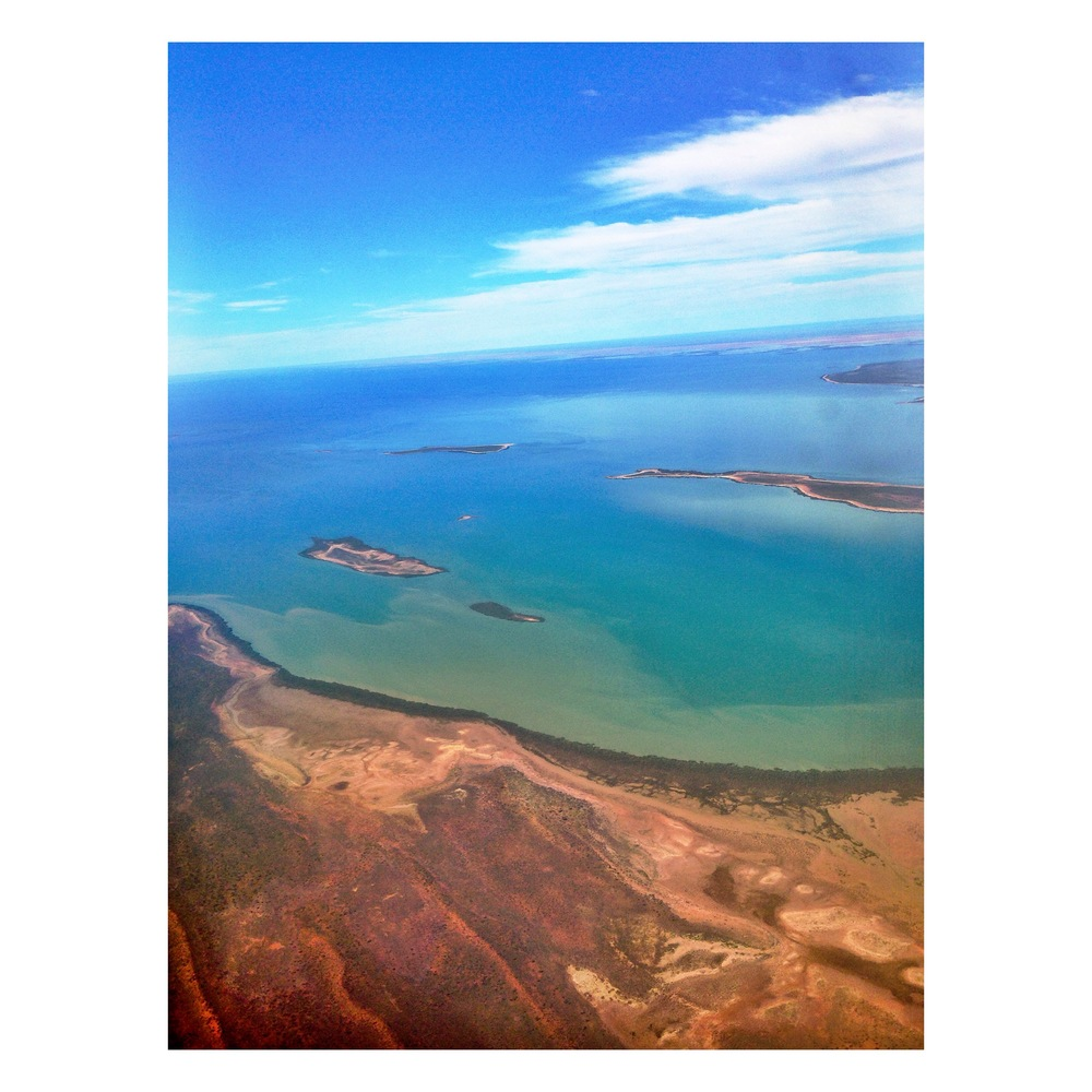 Shot from the plane flying into Exmouth from Perth