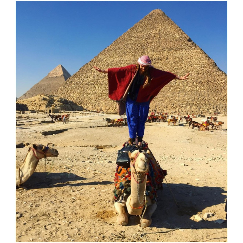 @kathr_ynstagram at the Pyramids of Giza