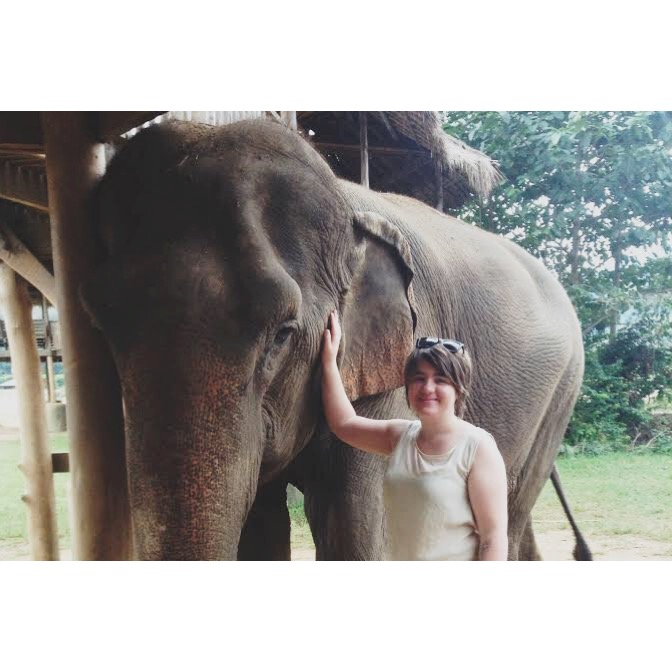 Alexis volunteering at the Elephant Nature Park in Chiang Mai, Thailand