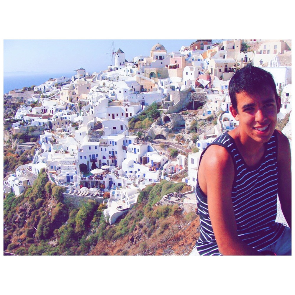 Baby Andrew on his family trip to Santorini, Greece!
