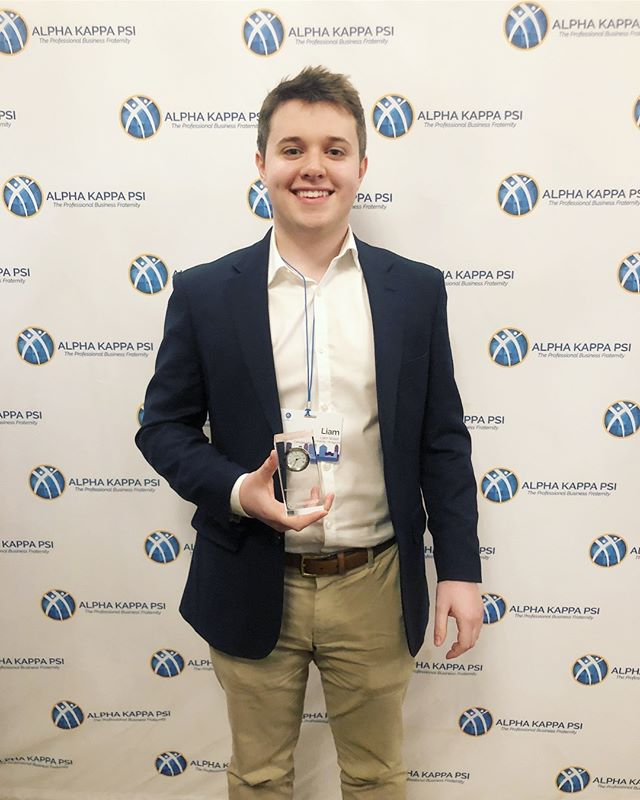 Huge congrats to our brother, Liam Walsh, for receiving the Outstanding Leader Award for Service at this year's #pblichicago . Our board members had an amazing time attending, can't wait for next year 🏙